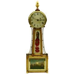 Banjo Clock, c1820, Patent Timepiece