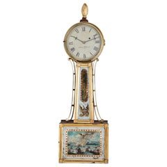 Banjo Clock, Sig. Aaron Willard, Boston First Half of the 19th Century