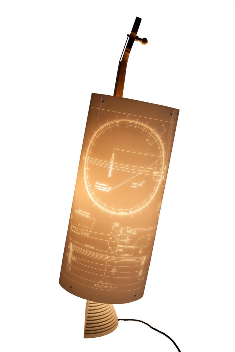 Contemporary Banjo Lamp Created by Atelier Boucquet For Sale