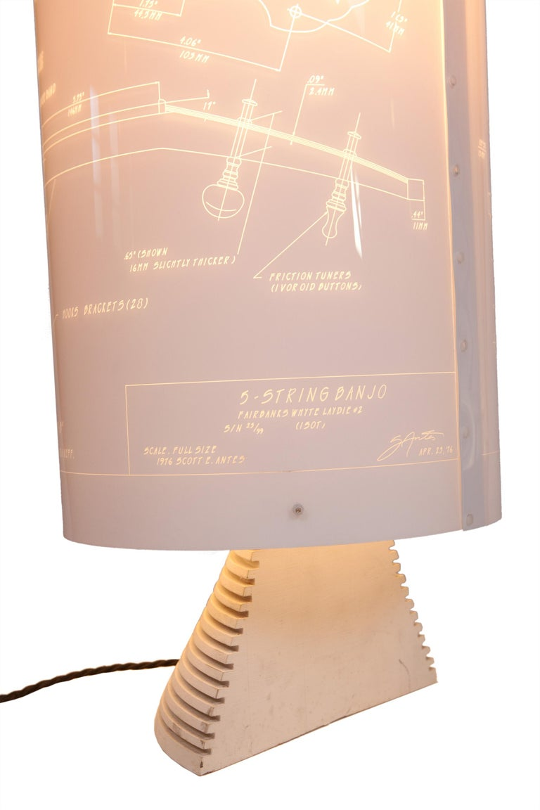Banjo Lamp Created by Atelier Boucquet For Sale 1