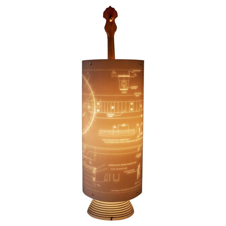 Banjo Lamp Created by Atelier Boucquet For Sale