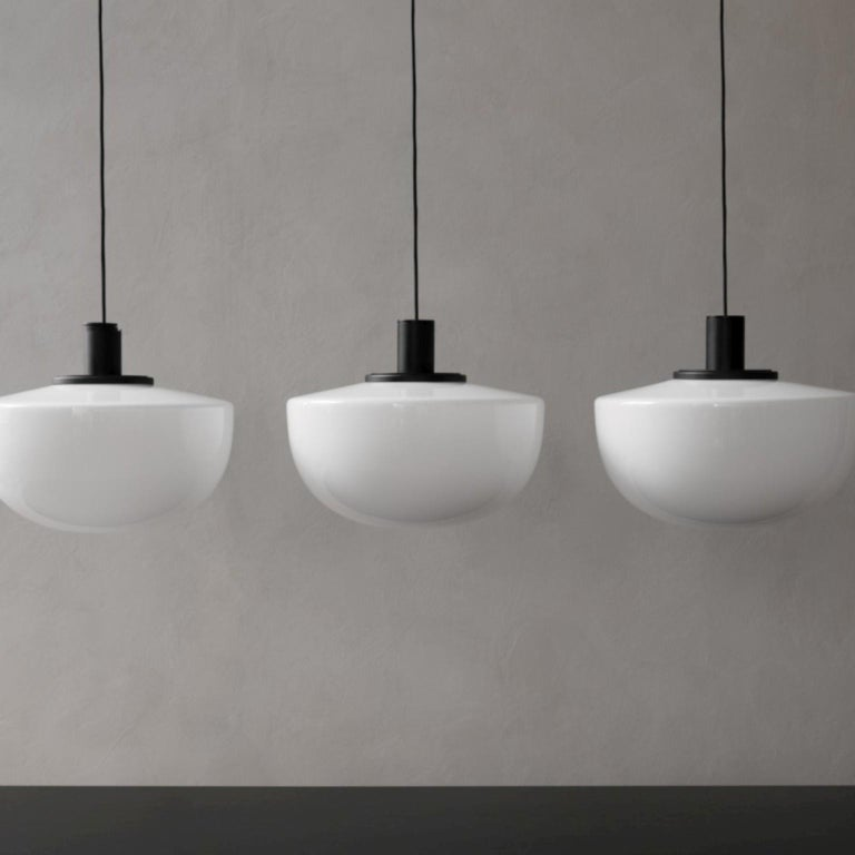 Anodized Bank Pendant, Opal Glass by Norm Architects For Sale
