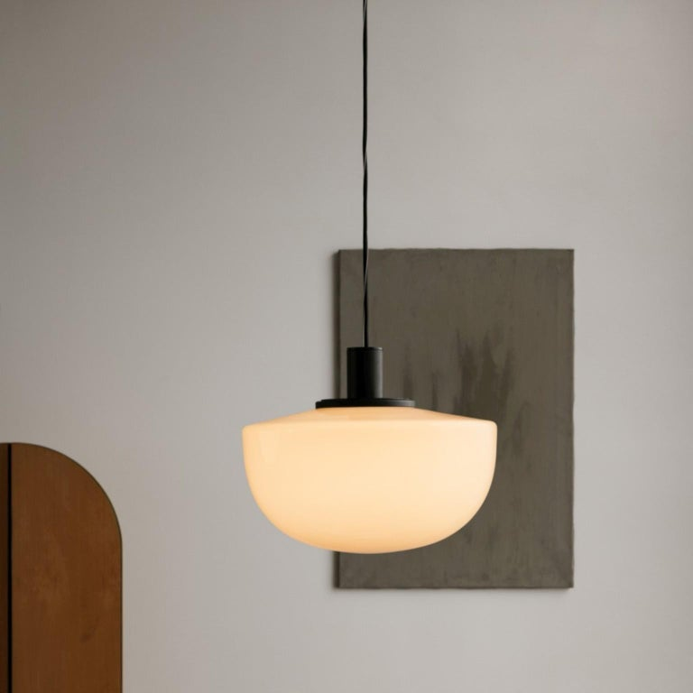 Bank Pendant, Opal Glass by Norm Architects In New Condition For Sale In San Marcos, CA