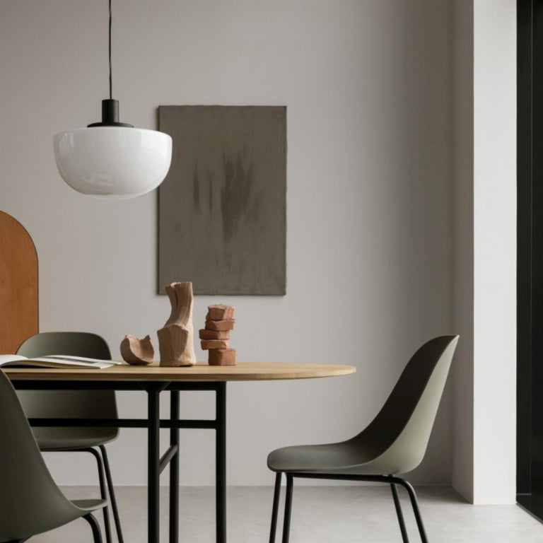 Bank Pendant, Opal Glass by Norm Architects For Sale 1