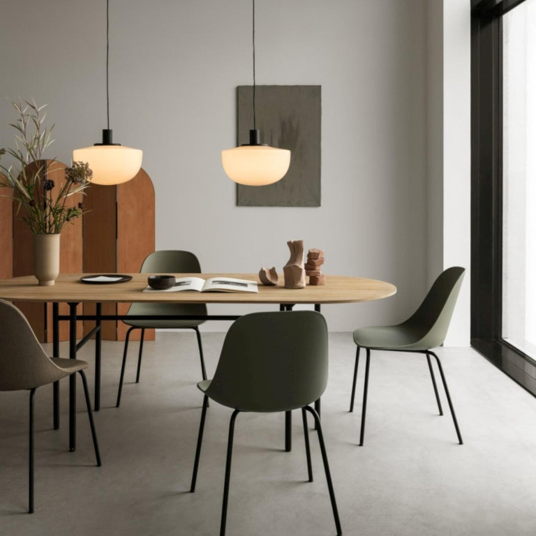 Bank Pendant, Opal Glass by Norm Architects For Sale 3