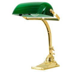Banker Table Lamp in the Style of Art Deco Made Around 1990s 'New' Not Antique