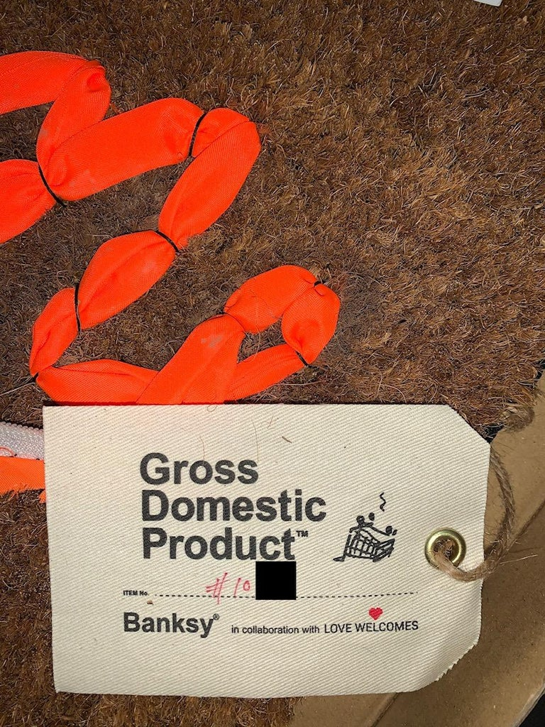 Banksy Welcome Mat from Gross Domestic Product Street Art Urban Art Love Welcome For Sale 1