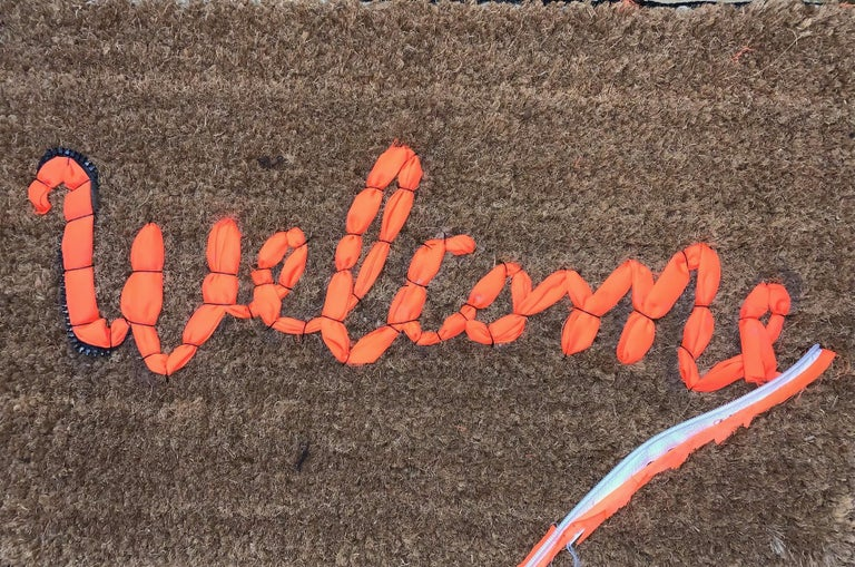 Banksy Welcome Mat from Gross Domestic Product Street Art Urban Art Love Welcome For Sale 4