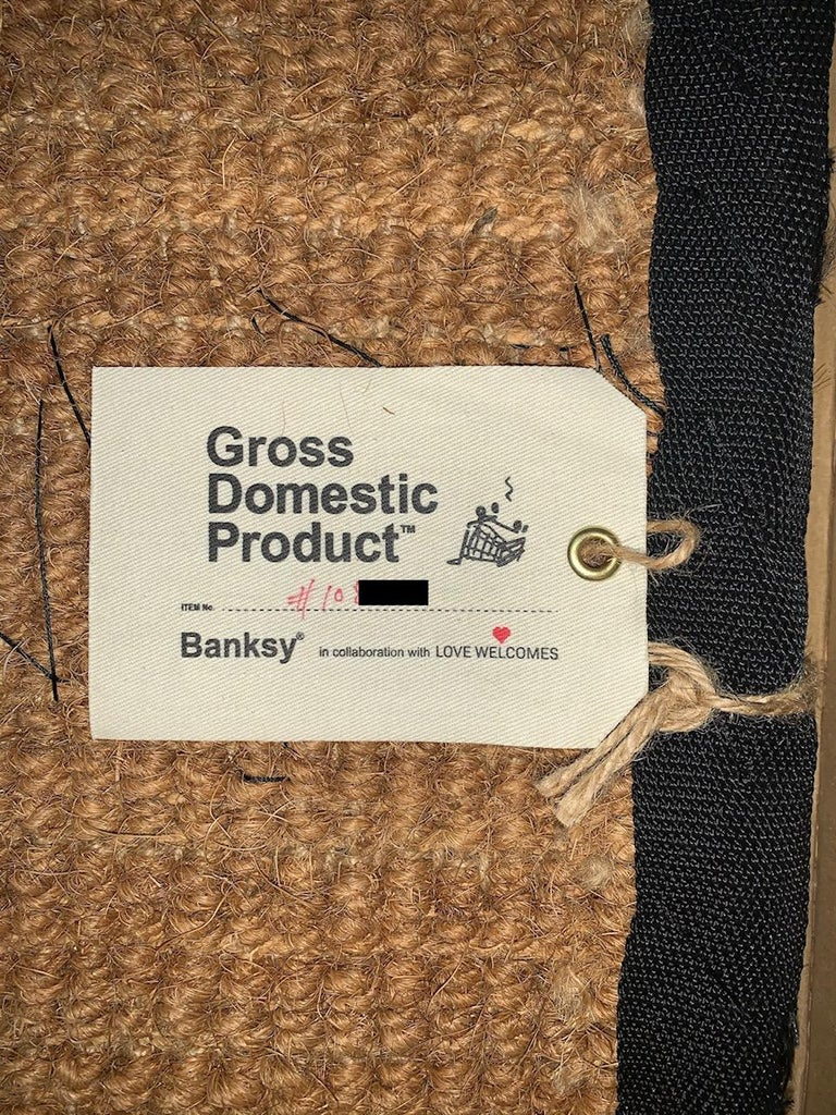Banksy Welcome Mat from Gross Domestic Product Street Art Urban Art Love Welcome For Sale 5