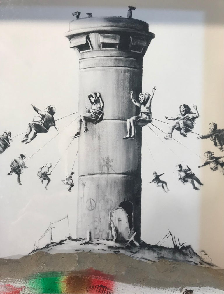 Walled Off Hotel Box Set 2017 Box Framed With Different Colored Rocks Unique WOH - Street Art Mixed Media Art by Banksy