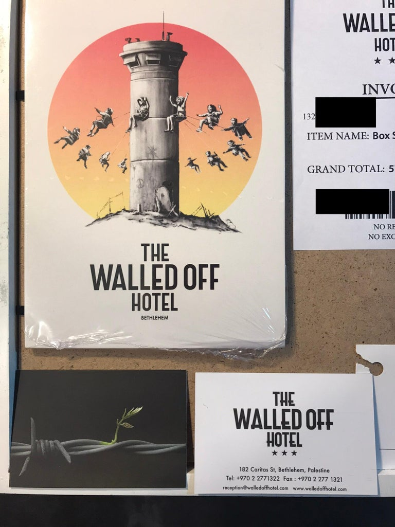 Walled Off Hotel Box Set 2017 Box Framed With Different Colored Rocks Unique WOH For Sale 1