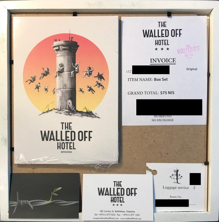 Walled Off Hotel Box Set 2017 Box Framed With Different Colored Rocks Unique WOH For Sale 3