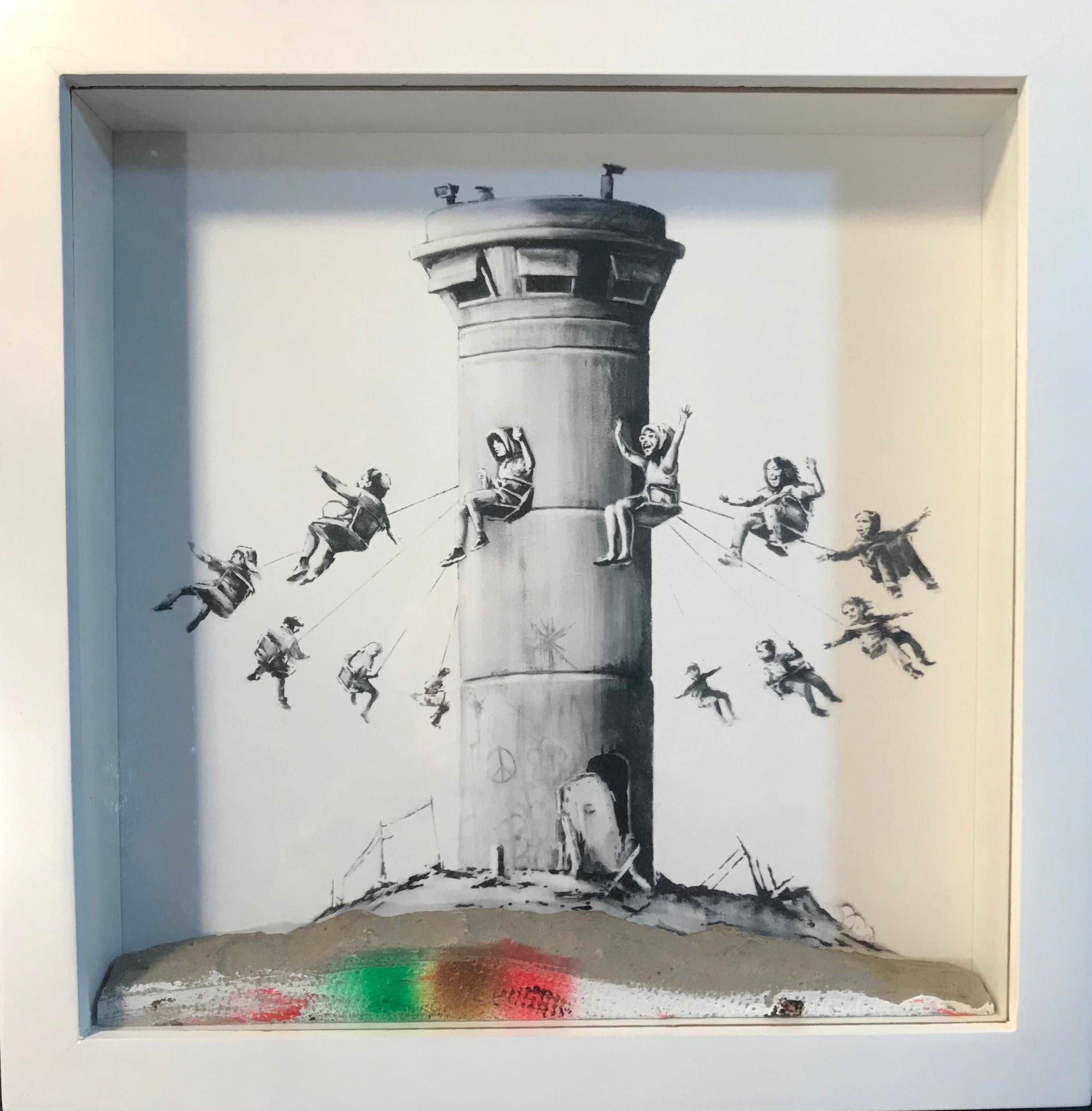 Walled Off Hotel Box Set 2017 Box Framed With Different Colored Rocks