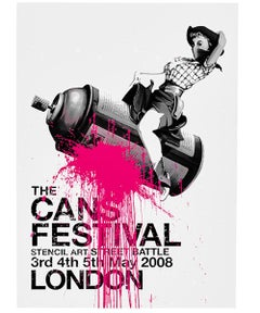 BANKSY CANS FESTIVAL POSTER