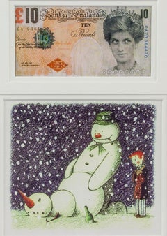 Banksy Di-Faced Tenner and Rude Snowman