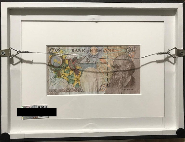 Banksy Di - Faced Tenner  - Gray Portrait Print by Banksy