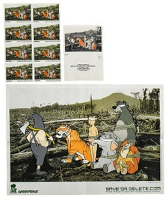BANKSY SAVE OR DELETE (Greenpeace Poster with Stickers & Postcard)