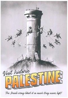 "Banksy - ""Visit historic Palestine"" - Extremely Rare Street Art"