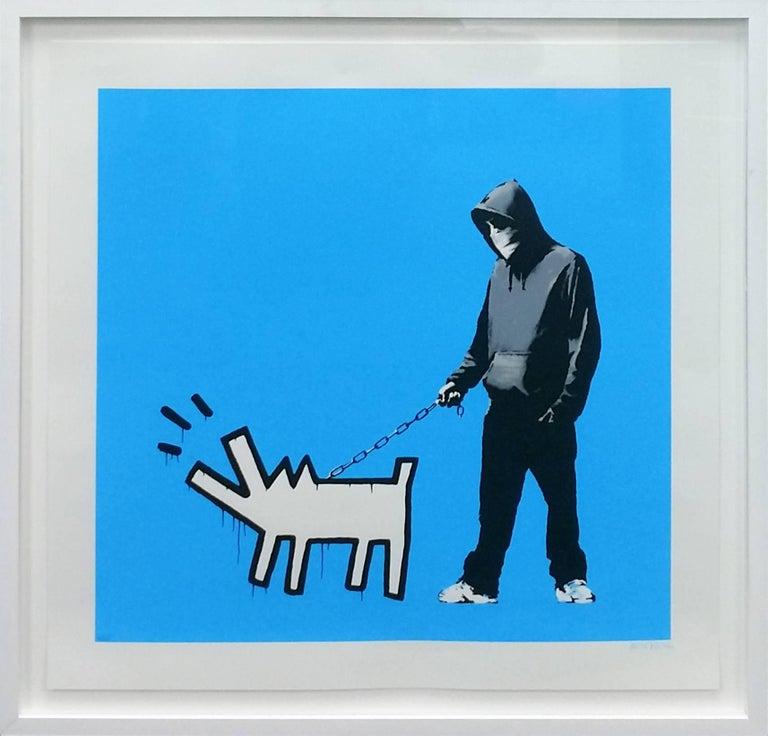 Banksy Figurative Print - CHOOSE YOUR WEAPON (SKY BLUE)