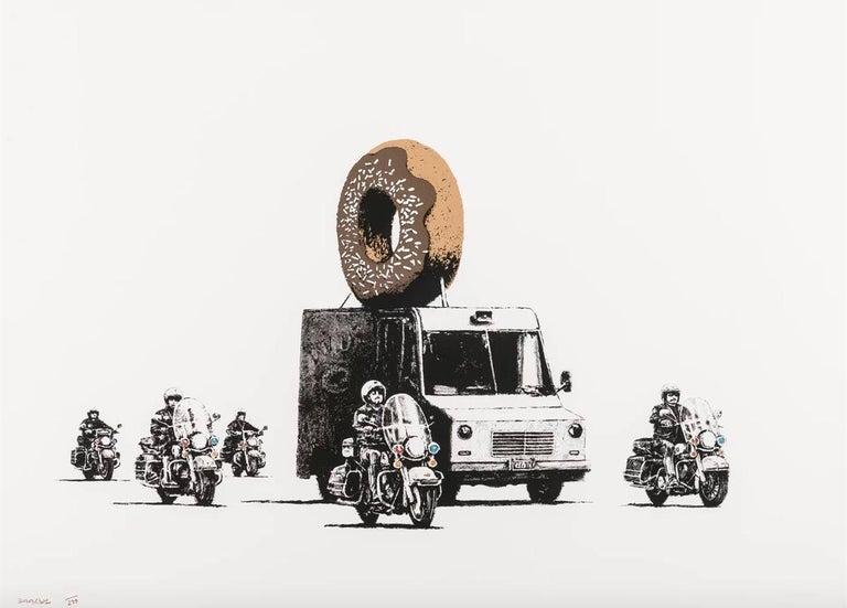 Banksy Figurative Print - Donuts Chocolate