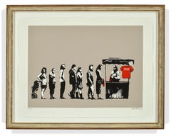 """Festival/Destroy Capitalism"" L.A. series limited edition Banksy screenprint"