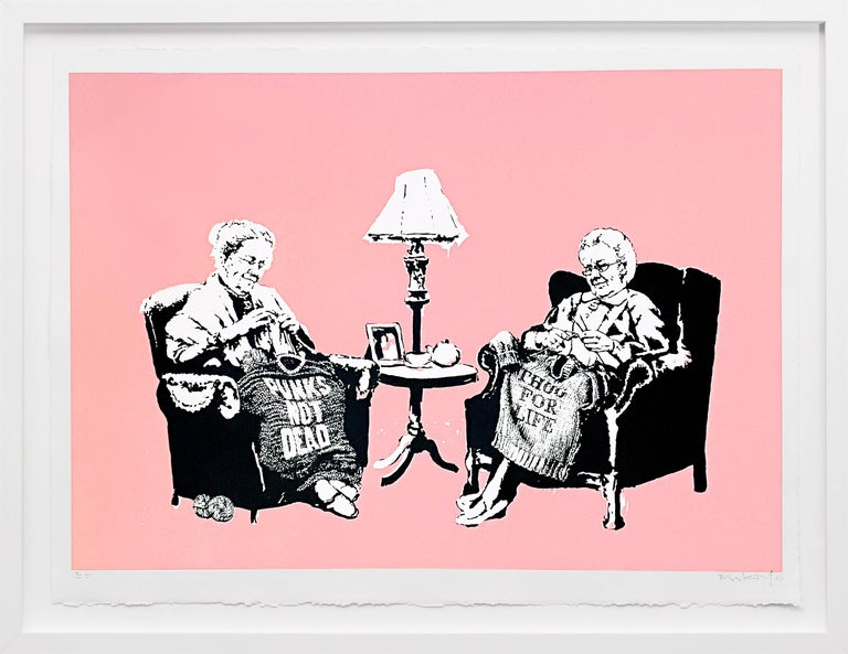 Banksy Figurative Print - Grannies (Unique), 2006