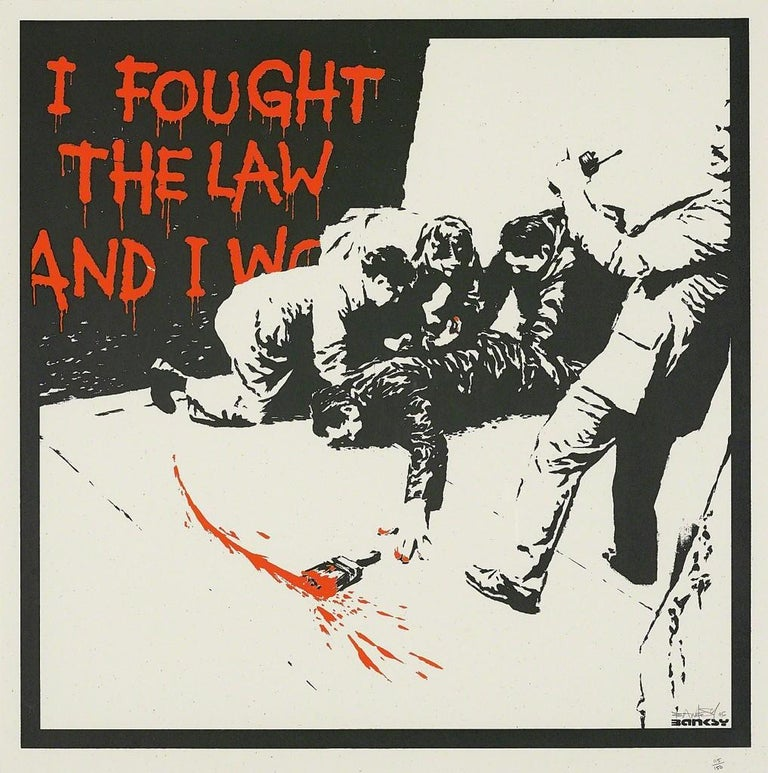 Banksy Print - I Fought the Law