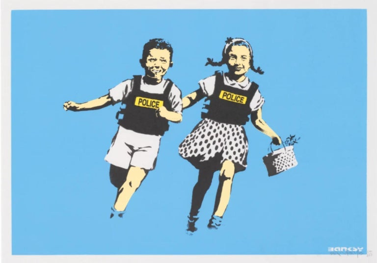 Banksy Figurative Print - Jack and Jill (Police Kids)