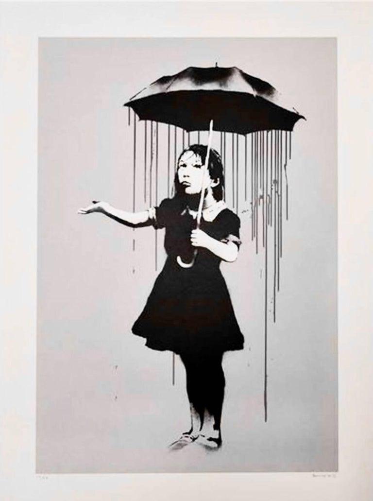 Banksy Figurative Print - Nola (Grey)