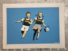 """Police Kids"" limited edition screenprint by British graffiti artist BANKSY"