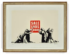 """Sale Ends"" L.A. series printers proof by British street artist Banksy"
