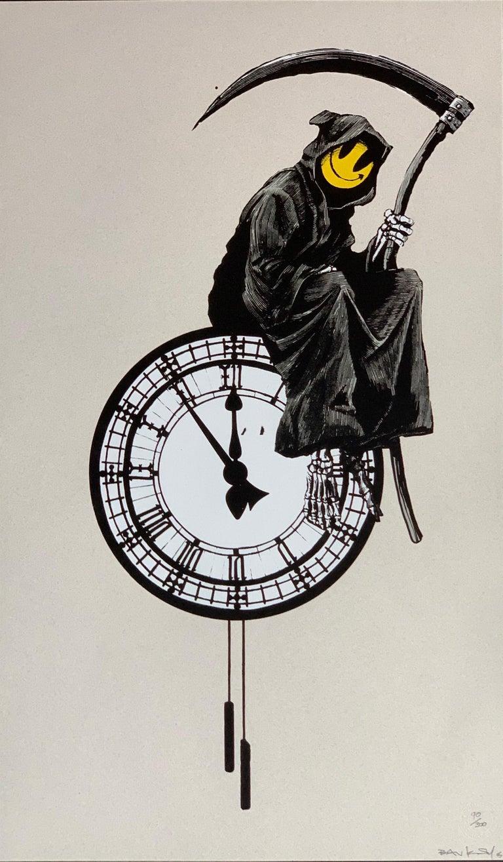 Modern Banksy Grin Reaper 2005 Signed For Sale