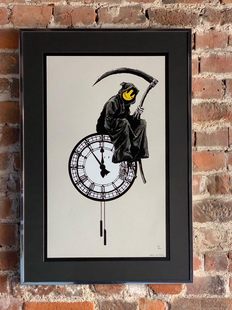 British Banksy Grin Reaper 2005 Signed For Sale