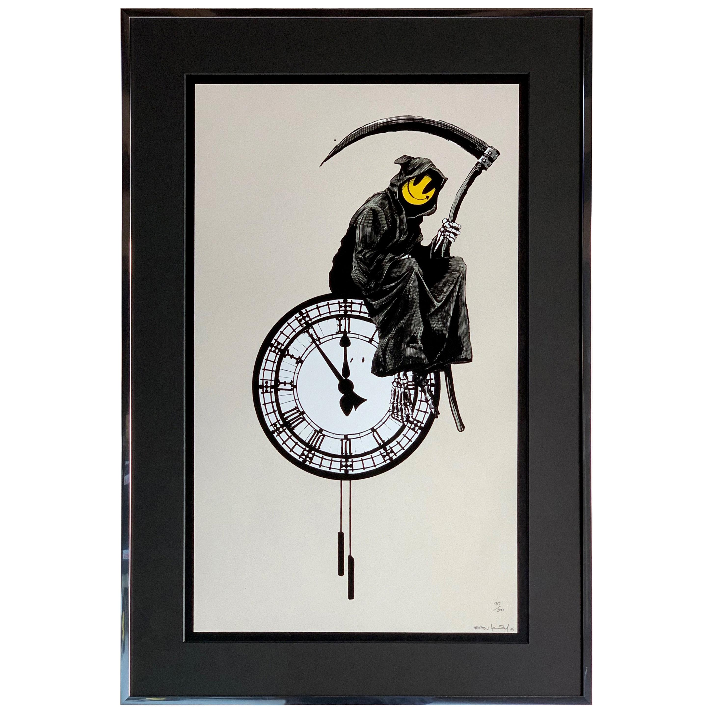 Banksy Grin Reaper 2005 Signed
