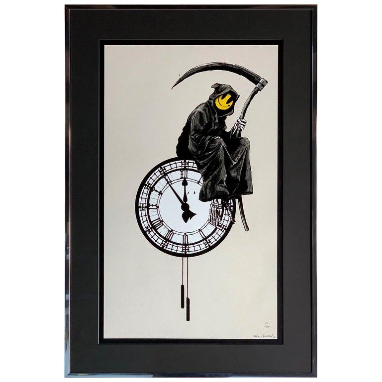 Banksy Grin Reaper 2005 Signed For Sale
