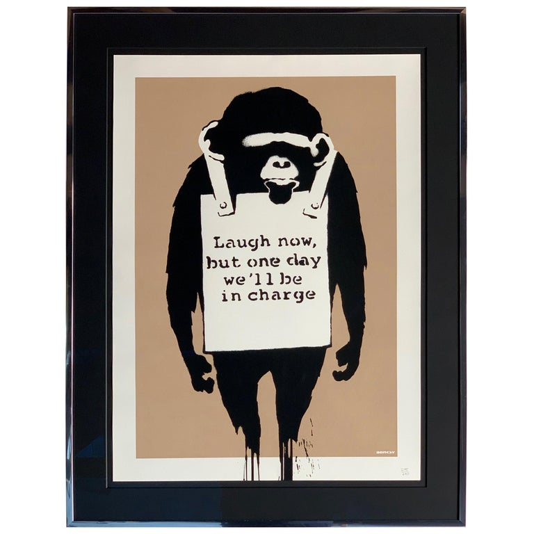 Banksy Laugh Now 2003 Unsigned For Sale