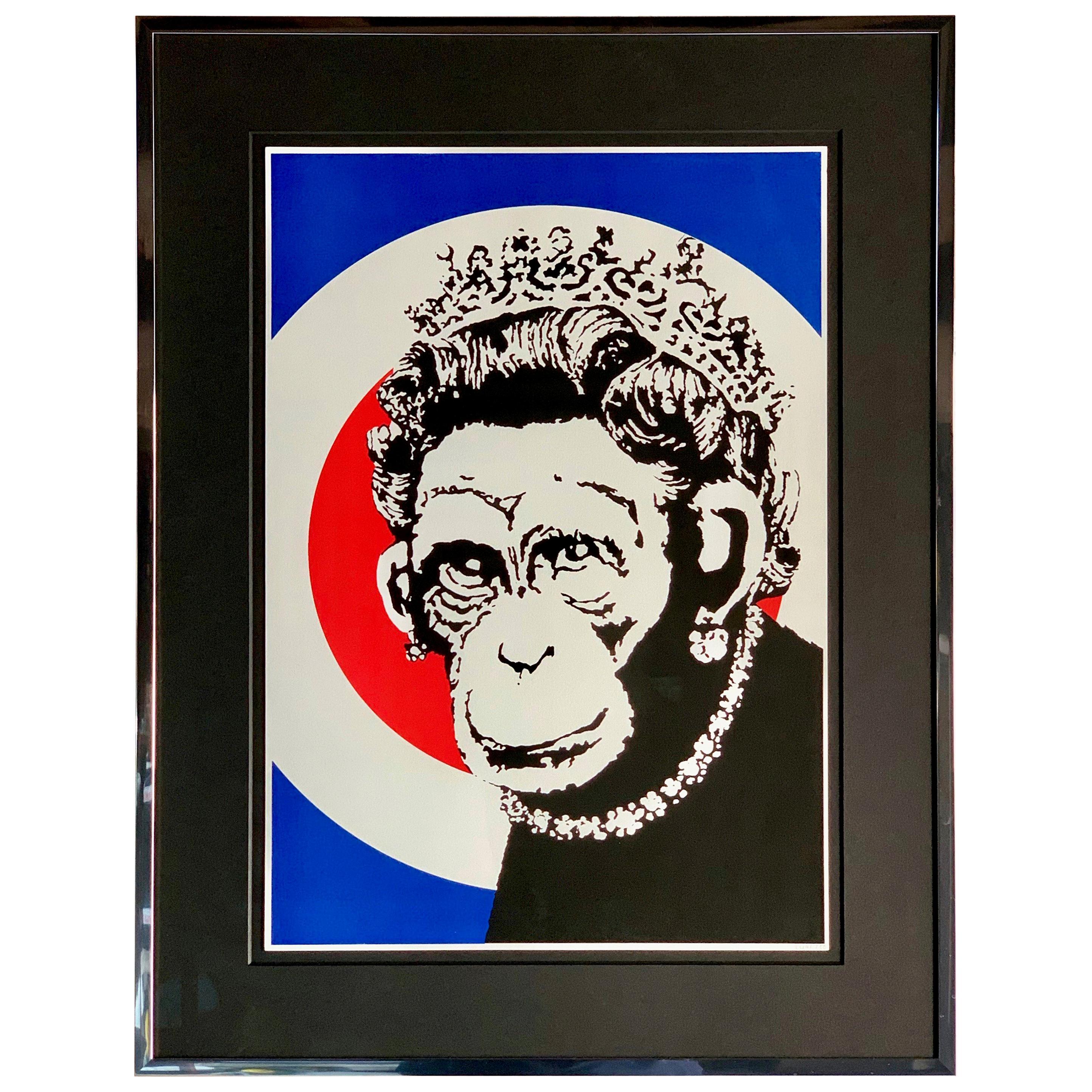 Banksy Monkey Queen, 2003 Unsigned