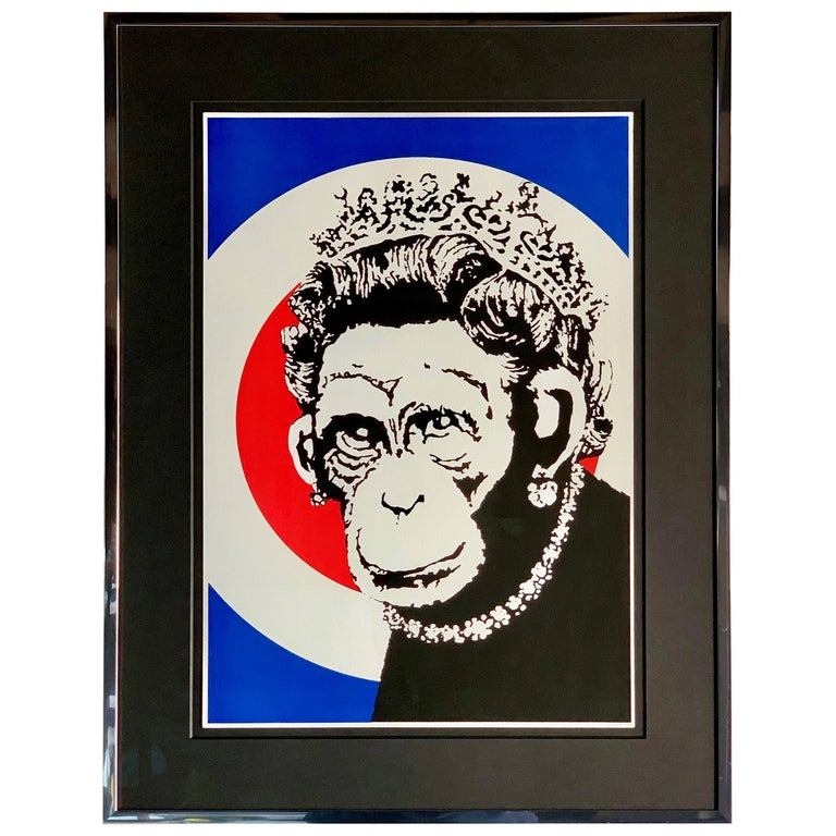 Banksy Monkey Queen, 2003 Unsigned For Sale