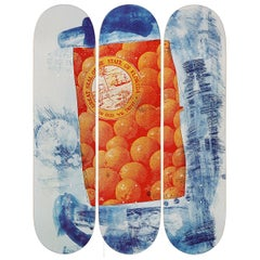 Banner Skateboard Decks after Robert Rauschenberg