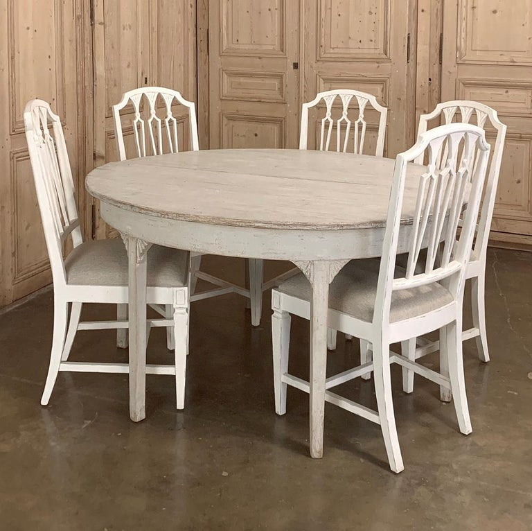 Banquet Table, Painted, Early 19th Century Swedish Gustavian Period For Sale 7