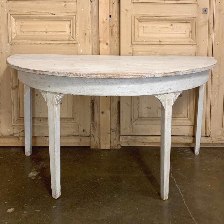 Banquet Table, Painted, Early 19th Century Swedish Gustavian Period For Sale 9