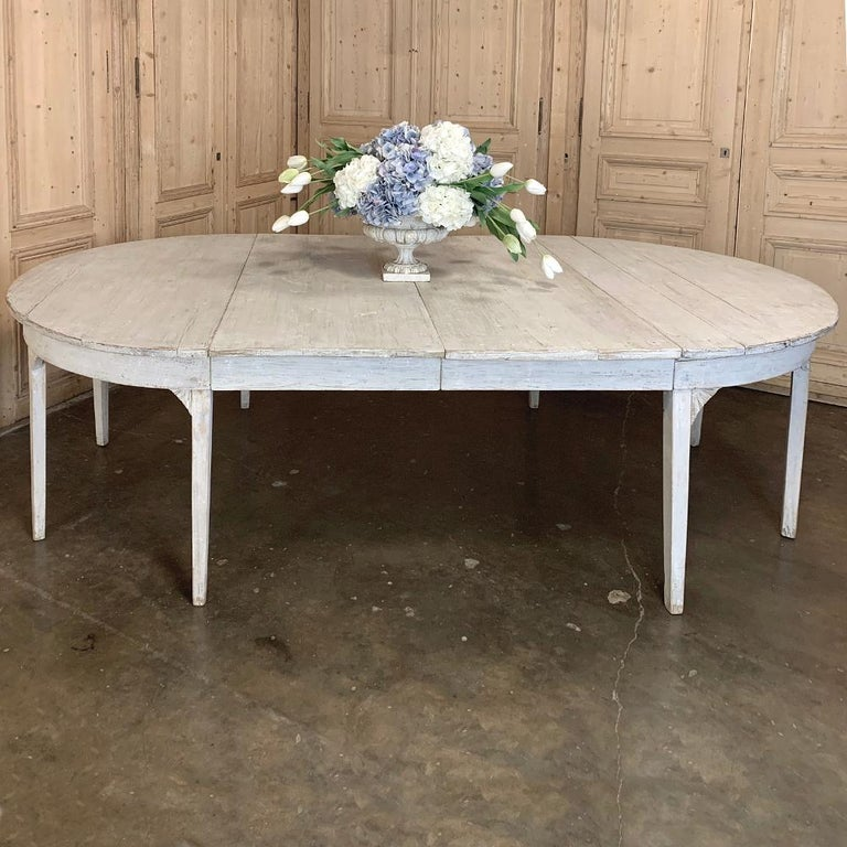 Banquet Table, Painted, Early 19th Century Swedish Gustavian Period For Sale 11