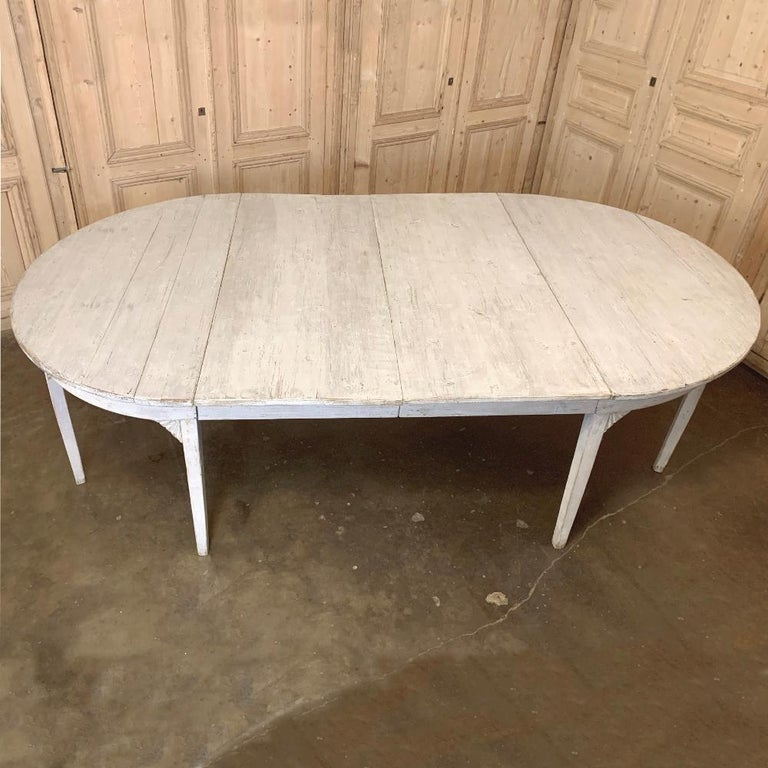 Banquet Table, Painted, Early 19th Century Swedish Gustavian Period For Sale 3