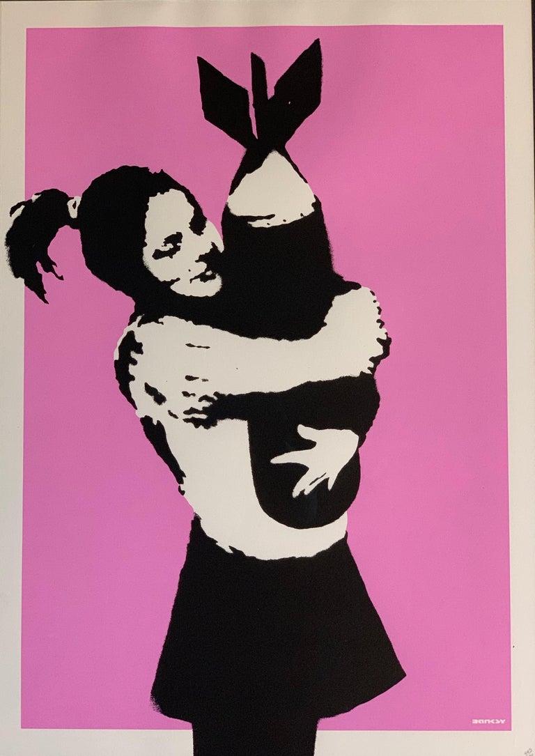 Modern Bansky Bomb Hugger Bomb Love 2005 Unsigned For Sale