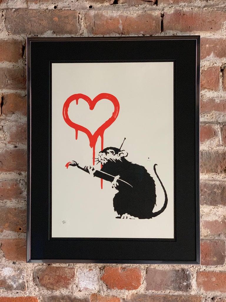 British Bansky Love Rat 2004 Unsigned For Sale