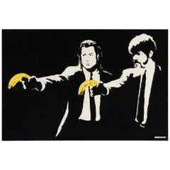 Bansky Pulp Fiction 2004 'Banksy British'