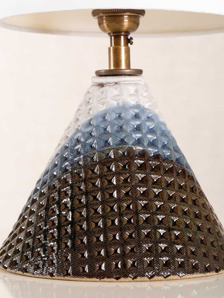 Modern Bantam Lamp, Ceramic Sculptural Table Lamp by Dumais Made