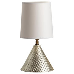 Bantam Lamp Gilded, Ceramic Sculptural Table Lamp by Dumais Made