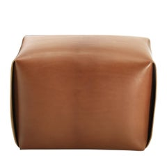 Bao Natural Leather Ottoman