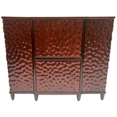 Bar Cabinet Carved Rosewood, Aldo Tura, 1940